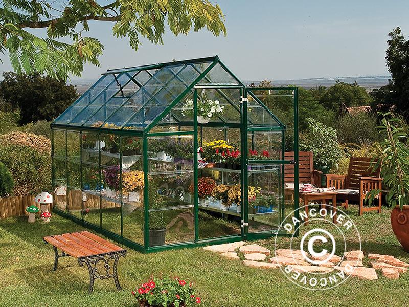 Drivhus i polykarbonat ser ut som klassiske drivhus i glass