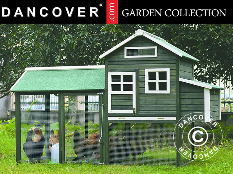 Hønsehus eller hønsegård til familiehagen og andre steder